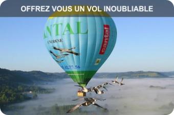 vol montgolfiere oiseaux Cantal